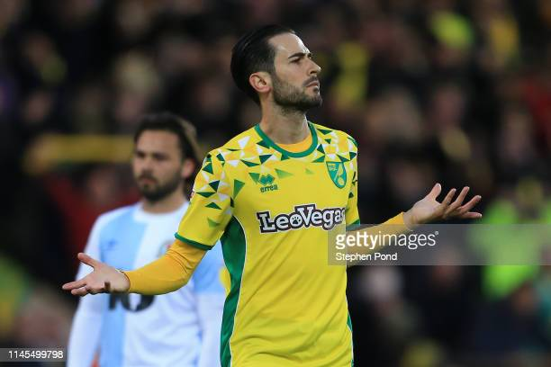 Mario Vrancic of Norwich City celebrates after scoring his team's second goal during the Sky Bet Championship match between Norwich City and...