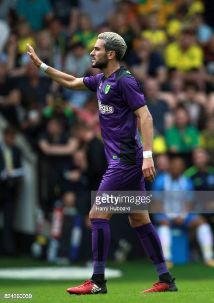 Mario Vrancic of Norwich in action during the preseason friendly match between Norwich City and Brighton Hove Albion at Carrow Road on July 29 2017...
