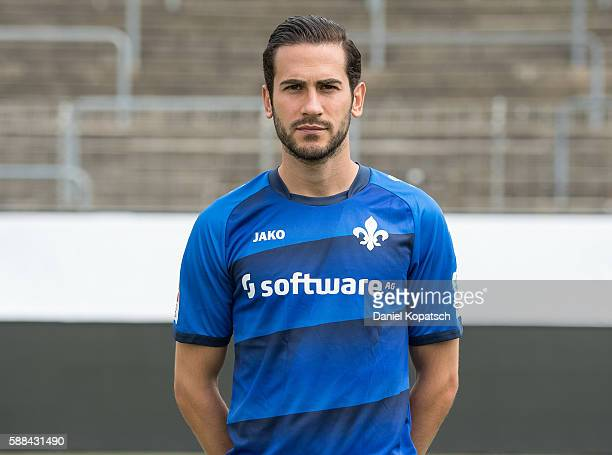 Mario Vrancic poses during the Darmstadt 98 Team Presentation on August 11 2016 in Darmstadt Germany