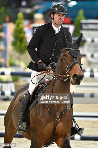 Mario Wilson of Portugal rides Sahel Villa Rose during the FEI Longines CSI5* World Cup Small Tour By BMW Jumping Verona 2016 on November 10 2016 in...