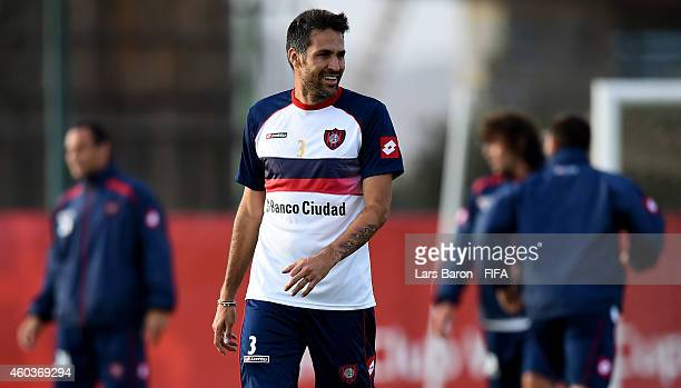 Mario Yepes of San Lorenzo smiles during a San Lorenzo training session prior to there first match in the FIFA Club World Cup on December 12 2014 in...