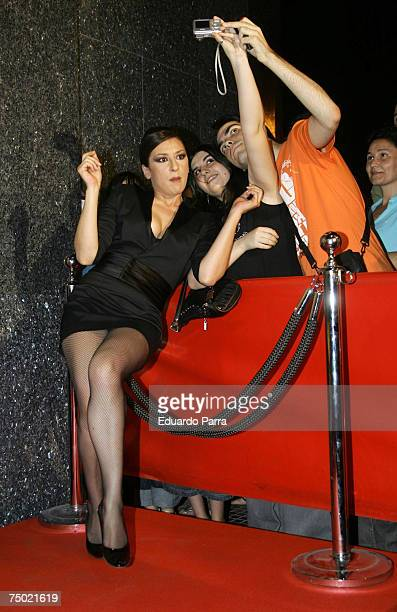 Mariola Fuentes attends the Chuecatown premiere at the Callao Cinema in Madrid Spain on July 3 2007