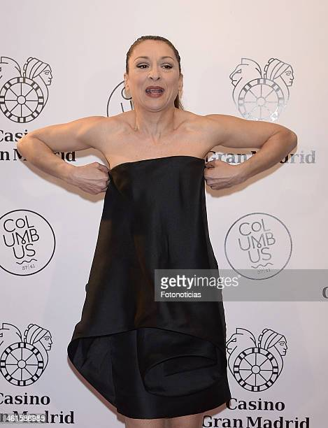 Mariola Fuentes attends the opening of 'Casino Gran MadridColon' on January 9 2014 in Madrid Spain