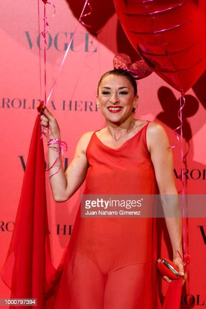 Mariola Fuentes attends Vogue 30th Anniversary Party at Casa Velazquez on July 12 2018 in Madrid Spain
