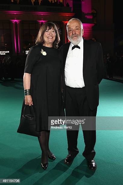 Marion Bailey and Mike Leigh attend the Award Night during the Zurich Film Festival on October 3 2015 in Zurich Switzerland