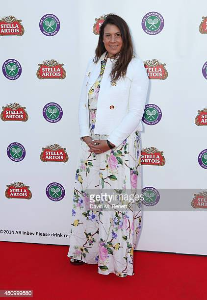 Marion Bartoli attends the Stella Artois Wimbledon 2014 official launch party at Cannizaro House on June 21 2014 in London England Stella Artois is...