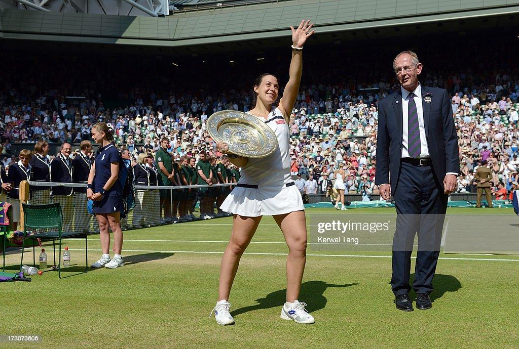 Celebrities Attend Wimbledon 2013 - Day 12 : News Photo