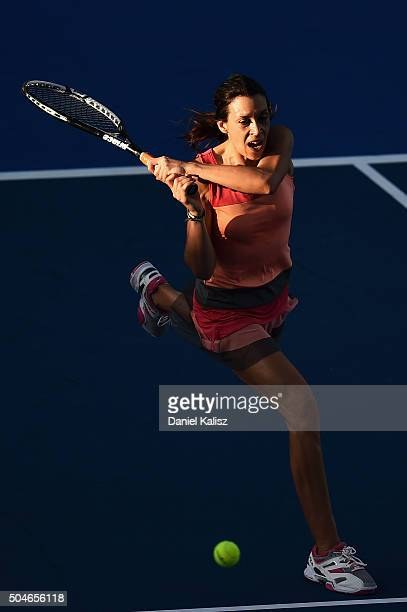 Marion Bartoli of France competes during the 2016 World Tennis Challenge match between Arantxa Sanchez Vicario of Spain and Marion Bartoli of France...