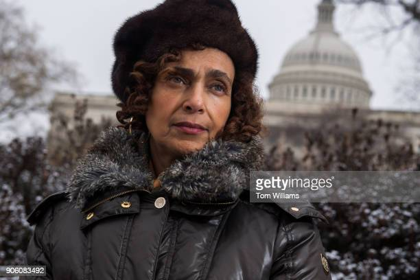 Marion Brown an aide of former Rep John Conyers DMich who accused him of sexual misconduct is photographed on Capitol Hill on January 17 2018