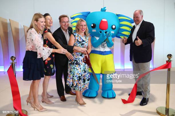 Marion Charlton Chris Mills Annabelle Chapman Minister Kate Jones and Mark Peters CEO of the Gold Coast 2018 Commonwealth Games Corporation...