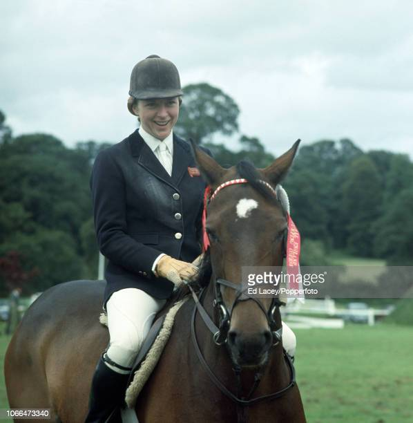 Marion Coakes aboard Stroller winners of the Wills Grand Stakes Fault Cut at Hickstead on 18th August 1968