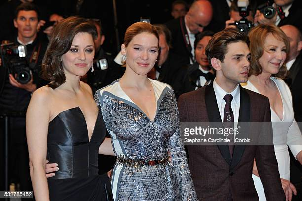 Marion Cotilard Lea Seydoux Xavier Dolan and Nathalie Baye attend the It's Only The End Of The World Premiere during the 69th annual Cannes Film...