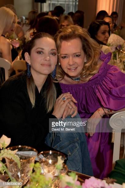 Marion Cotillard and Caroline Scheufele attend Chopard Bond Street Boutique reopening dinner on June 17 2019 in London United Kingdom