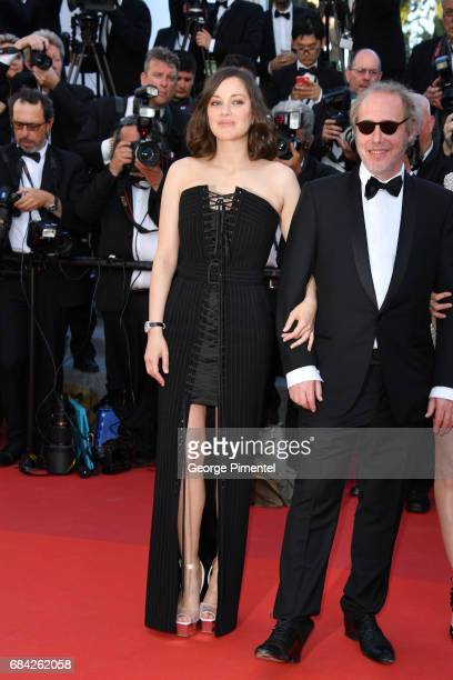 Marion Cotillard and Director Arnaud Desplechin attend the Ismael's Ghosts screening and Opening Gala during the 70th annual Cannes Film Festival at...