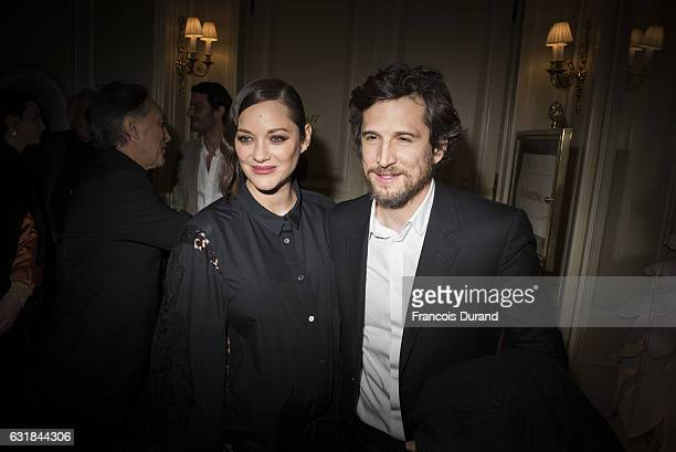 Marion Cotillard and Guillaume Canet attend the Cesar Revelations 2017' dinner at the Salon Chaumet on January 16 2017 in Paris France