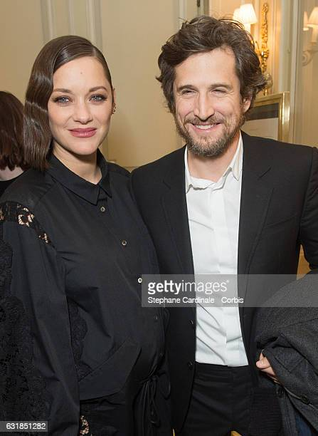 Marion Cotillard and Guillaume Canet attends the 'Cesar Revelations 2017' on January 16 2017 in Paris France