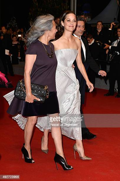 Marion Cotillard and her mother Niseema Theillaud attend the L'Homme Qu'On Aimait Trop premiere during the 67th Annual Cannes Film Festival on May 21...