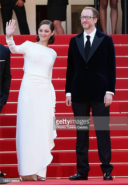 Marion Cotillard and James Gray attend The Immigrant Premiere during the 66th Annual Cannes Film Festival at Grand Theatre Lumiere on May 24 2013 in...