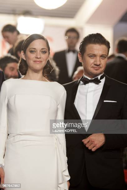 Marion Cotillard and Jeremy Renner attend 'The Immigrant' Premiere during the 66th Annual Cannes Film Festival at Palais des Festivals on May 24,...