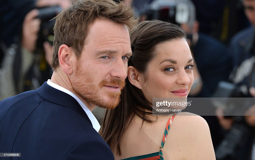 Marion Cotillard and Michael Fassbender attend the 'Macbeth' photocall during the 68th annual Cannes Film Festival on May 23, 2015 in Cannes, France.