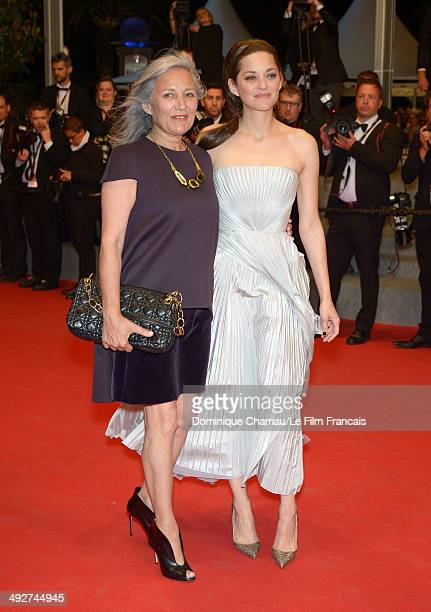 Marion Cotillard and Niseema Theillaud attend the In The Name Of My Daughter Premiere at the 67th Annual Cannes Film Festival on May 21 2014 in...