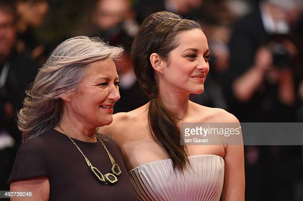 Marion Cotillard and Niseema Theillaud attend the L'Homme Qu'On Aimait Trop premiere during the 67th Annual Cannes Film Festival on May 21 2014 in...