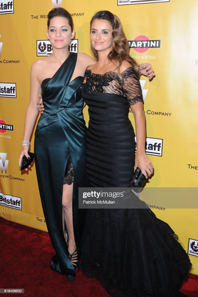 Marion Cotillard and Penelope Cruz attend THE WEINSTEN COMPANY Golden Globes After Party at Bar 210 on January 17, 2010 in Beverly Hills, California.