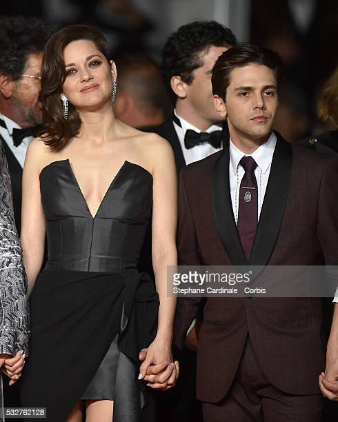 Marion Cotillard and Xavier Dolan attend the It's Only The End Of The World Premiere during the 69th annual Cannes Film Festival at the Palais des...