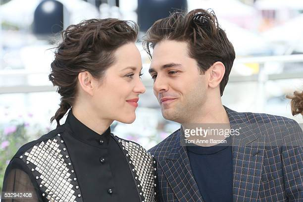 Marion Cotillard and Xavier Dolan attend the 'It's Only The End Of The World ' Photocall during the 69th annual Cannes Film Festival on May 19 2016...