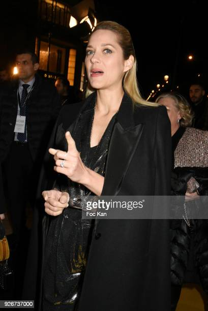 Marion Cotillard arrives at Le Fouquets as part of the Cesar Film Awards 2018 on March 2 2018 in Paris France
