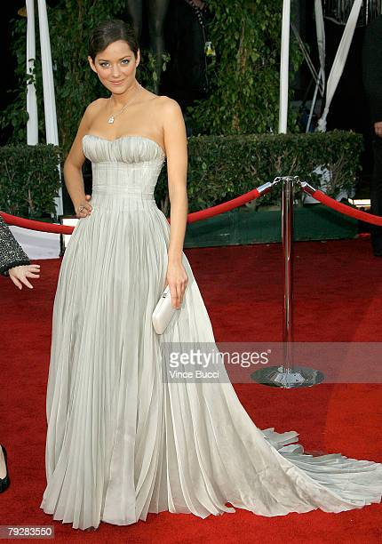 Marion Cotillard arrives at the 14th annual Screen Actors Guild awards held at the Shrine Auditorium on January 27 2008 in Los Angeles California