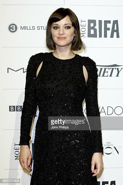 Marion Cotillard arrives at The Moet British Independent Film Awards 2015 at Old Billingsgate Market on December 6 2015 in London England