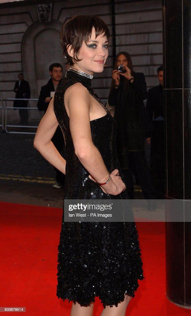 Marion Cotillard arrives for the UK film premiere of La Vie En Rose at the Curzon Mayfair in central London.