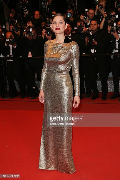 Marion Cotillard attends a screening of 'From The Land And The Moon ' at the annual 69th Cannes Film Festival at Palais des Festivals on May 15 2016...
