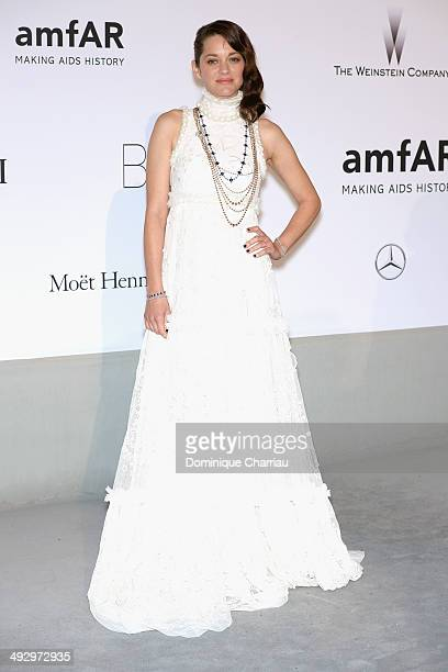 Marion Cotillard attends amfAR's 21st Cinema Against AIDS Gala Presented By WORLDVIEW BOLD FILMS And BVLGARI at Hotel du CapEdenRoc on May 22 2014 in...