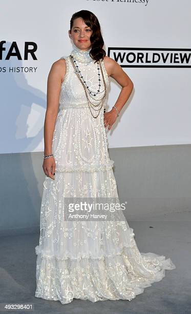 Marion Cotillard attends amfAR's 21st Cinema Against AIDS Gala Presented By WORLDVIEW BOLD FILMS And BVLGARI at the 67th Annual Cannes Film Festival...