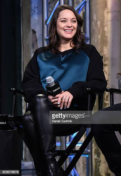 Marion Cotillard attends AOL Build to discuss the movie 'Assassin's Creed' at AOL HQ on December 12 2016 in New York City