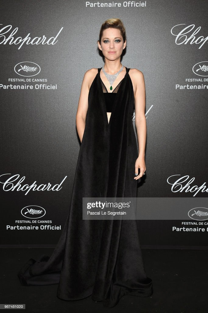 Marion Cotillard attends Chopard Secret Night during the 71st annual Cannes Film Festival at Chateau de la Croix des Gardes on May 11, 2018 in Cannes, France.