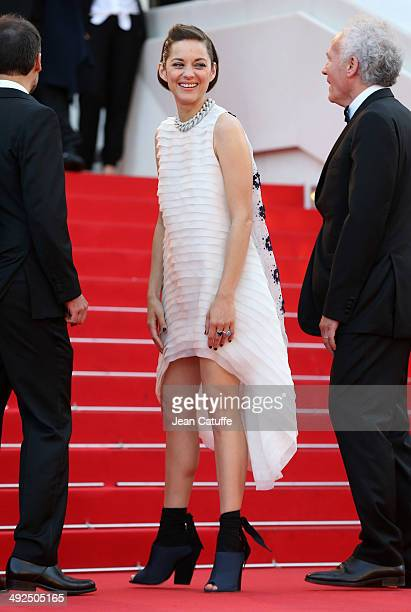 Marion Cotillard attends 'Deux Jours Une Nuit' premiere during the 67th Annual Cannes Film Festival on May 20 2014 in Cannes France