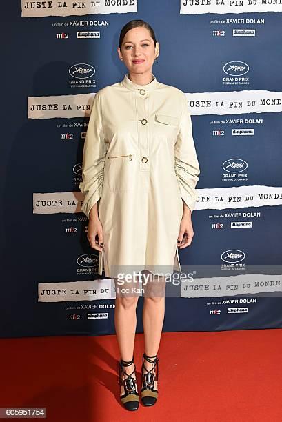 Marion Cotillard attends 'Juste La Fin Du Monde' Paris Premiere At MK2 Bibliotheque on September 15 2016 in Paris France