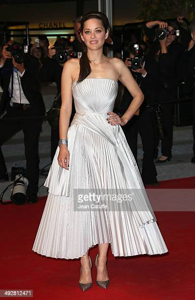 Marion Cotillard attends 'L'Homme Qu'On Aimait Trop' premiere during the 67th Annual Cannes Film Festival on May 21 2014 in Cannes France