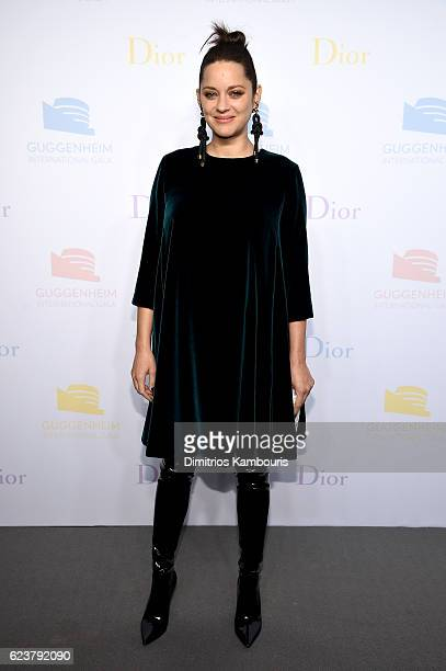 Marion Cotillard attends the 2016 Guggenheim International PreParty made possible by Dior at Solomon R Guggenheim Museum on November 16 2016 in New...