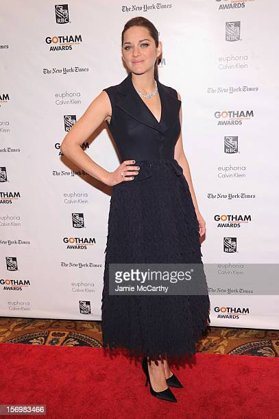Marion Cotillard attends the 22nd Annual Gotham Independent Film Awards at Cipriani Wall Street on November 26 2012 in New York City