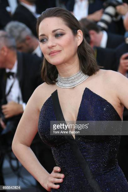 Marion Cotillard attends the 70th anniversary event during the 70th annual Cannes Film Festival at Palais des Festivals on May 23 2017 in Cannes...