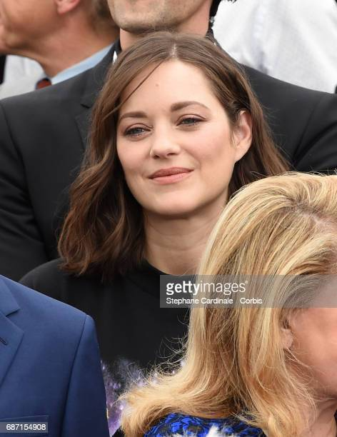 Marion Cotillard attends the 70th Anniversary photocall during the 70th annual Cannes Film Festival at Palais des Festivals on May 23 2017 in Cannes...