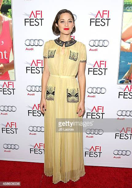 Marion Cotillard attends the AFI FEST 2014 Two Days One Night special screening on November 7 2014 at the Egyptian Theatre in Hollywood California