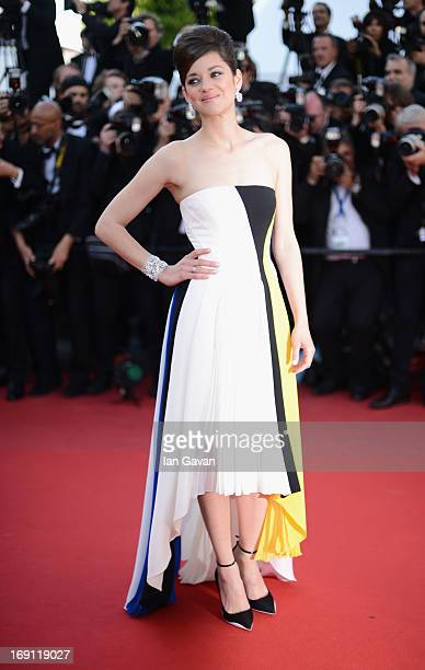 Marion Cotillard attends the Blood Ties Premiere during the 66th Annual Cannes Film Festival at Grand Theatre Lumiere on May 20 2013 in Cannes France