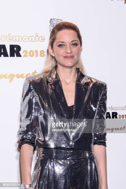 Marion Cotillard attends the ceremony dinner at Cesar Film Awards 2018 at Le Fouquet's on March 2 2018 in Paris France