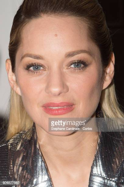 Marion Cotillard attends the Cesar ceremony dinner at Le Fouquet's on March 2 2018 in Paris France