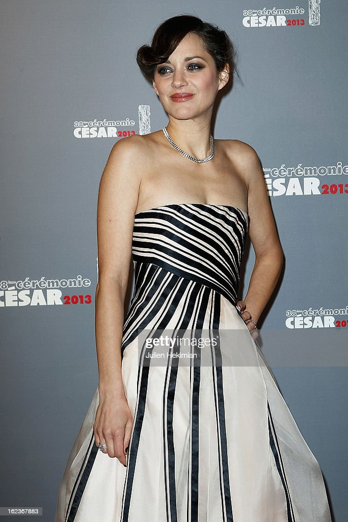 Marion Cotillard attends the Cesar Film Awards 2013 at Theatre du Chatelet on February 22, 2013 in Paris, France.